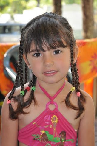 Justine à 4 ans