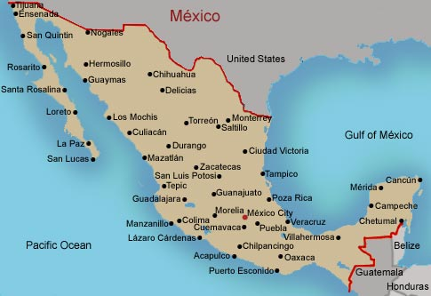 maps of mexico states. Mexico States Blank Map
