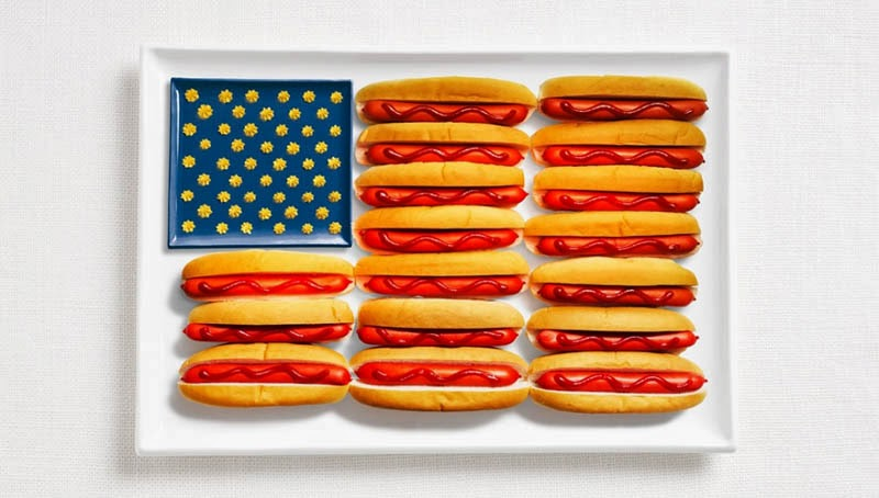 18 National Flags Made From Food - United States