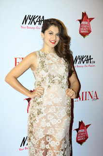 Taapsee Pannu Pictures in Long Dress at The Femina Beauty Awards 2015