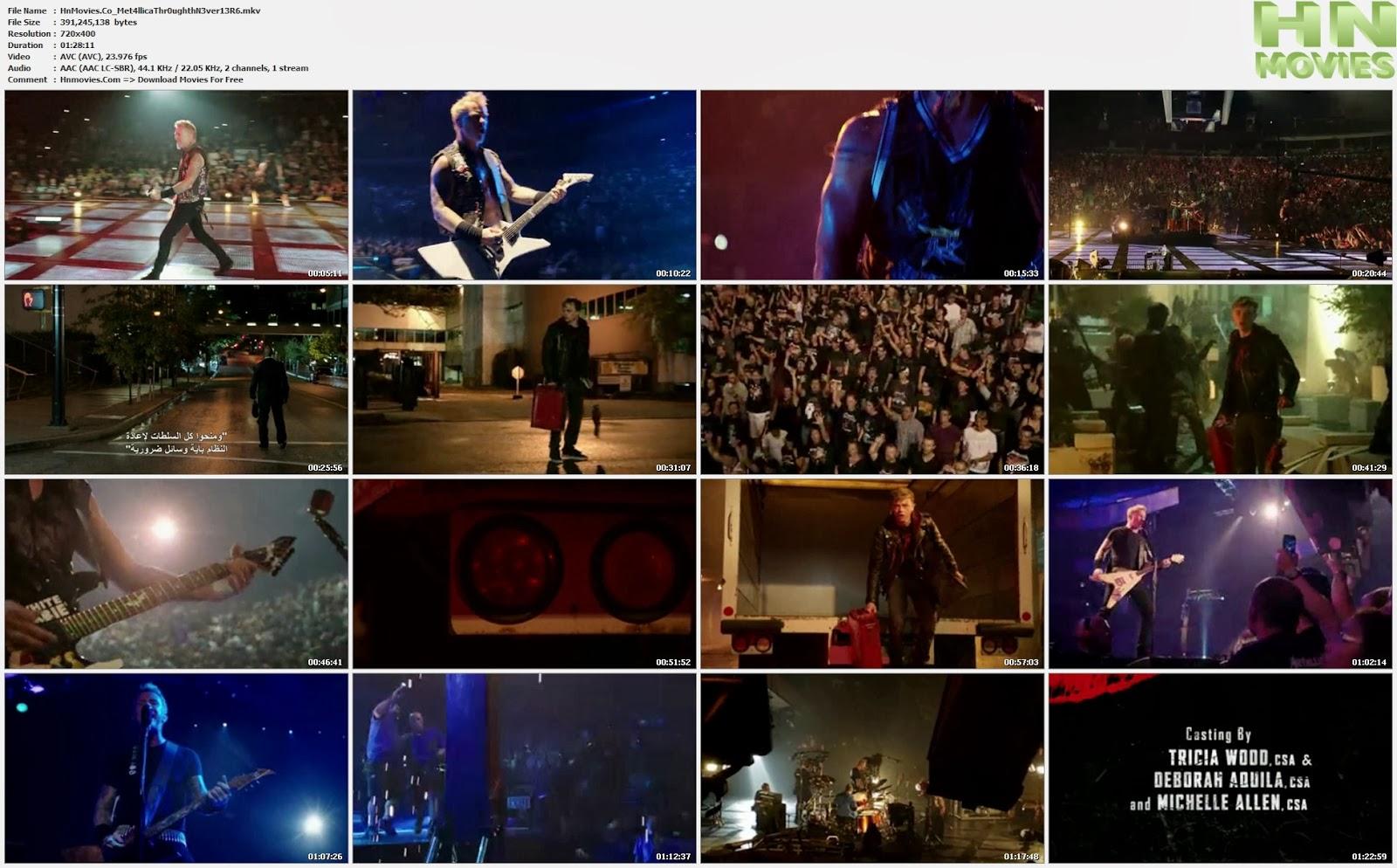 movie screenshot of Metallica Through the Never fdmovie.com
