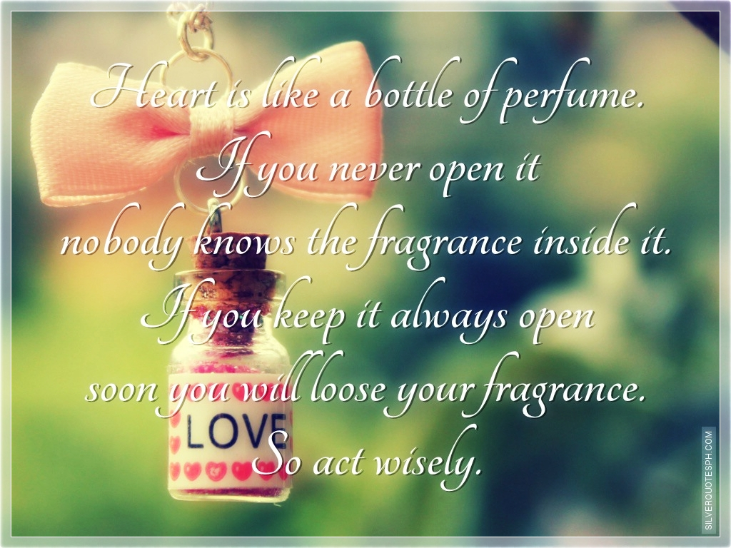 Heart Bottle Perfume Silver Quotes Tagalog