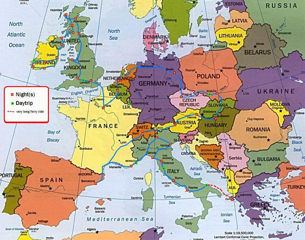 Политическа карта на Европа