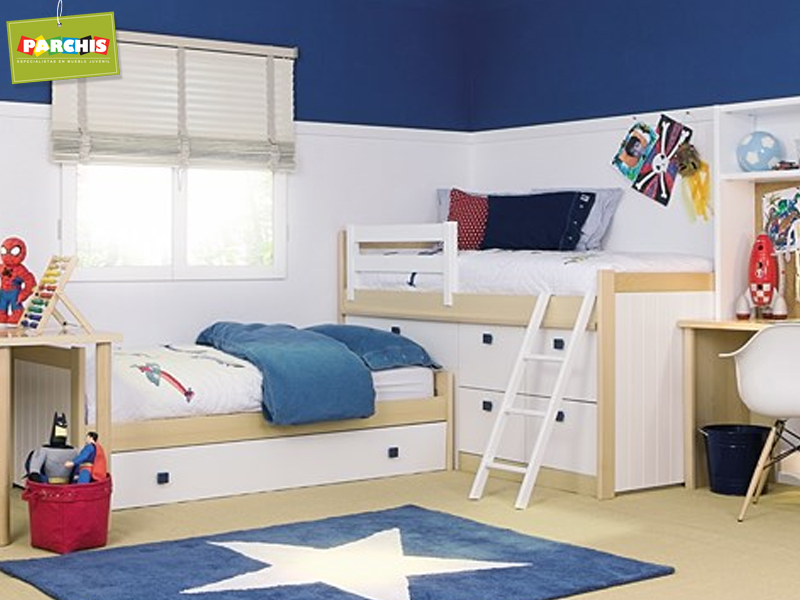 Muebles juveniles dormitorios infantiles y habitaciones - Habitaciones infantiles tren ...