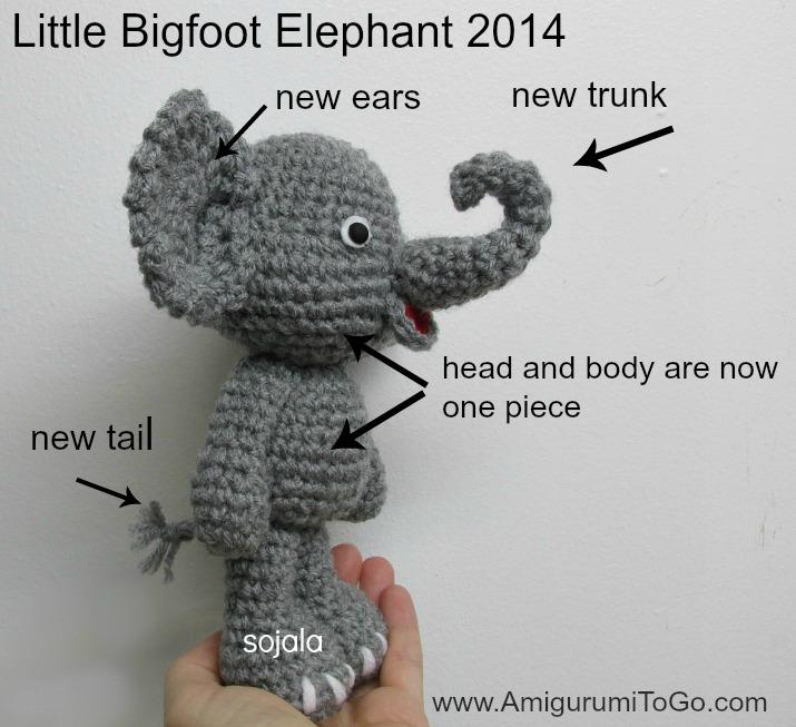 Amigurumi Triangle Ears : Cute Elephant Video Tutorial In The Works ~ Amigurumi To Go