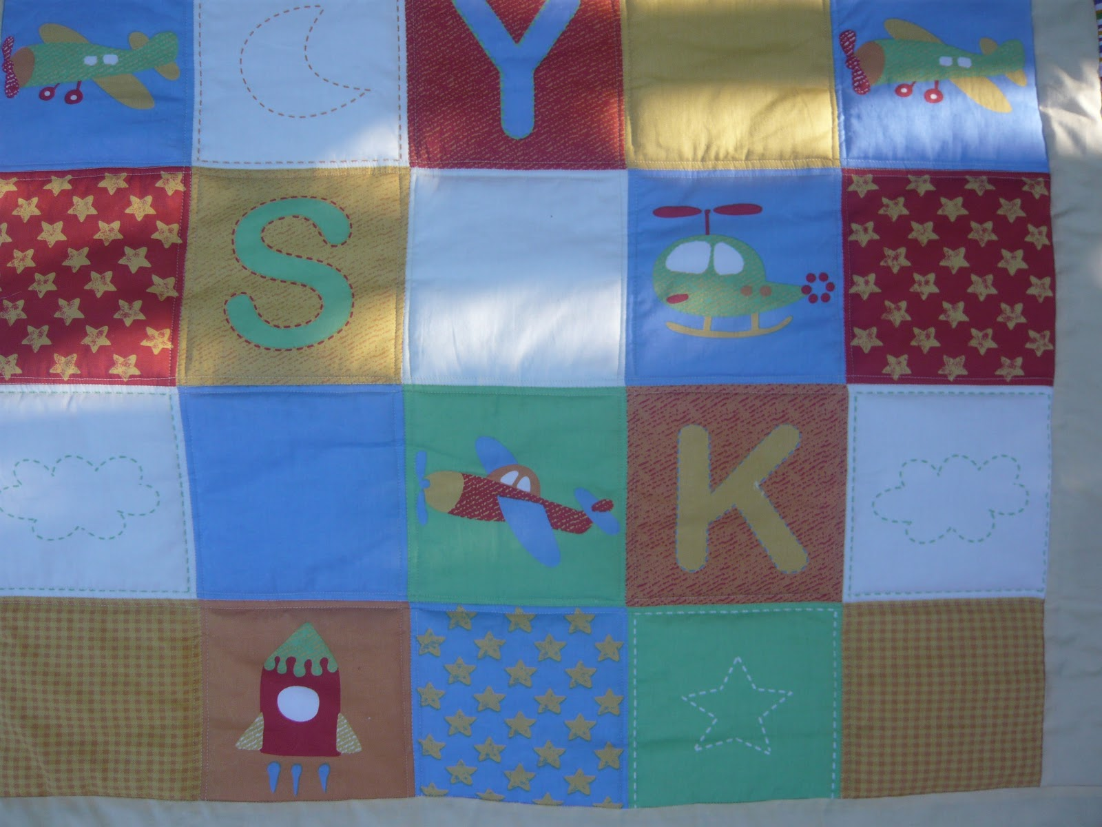 Handmade with love a boy 39 s quilt i for Boy quilt fabric