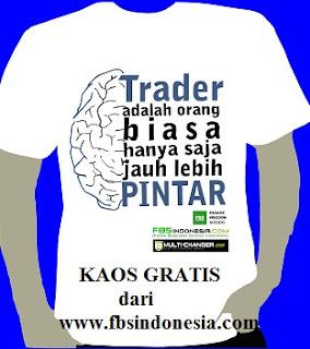 Kaos Gratis Buka Akun di FBS Indonesia