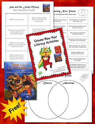 Chinese New Year Literacy Activities freebie - includes sorting activity and discussion cards.