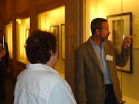 JPEF Executive Director gives a tour of the exhibit to Bay Area educators