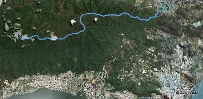 Ruta desde Ixtlahuacán de los Membrillos hasta la Chupinaya.