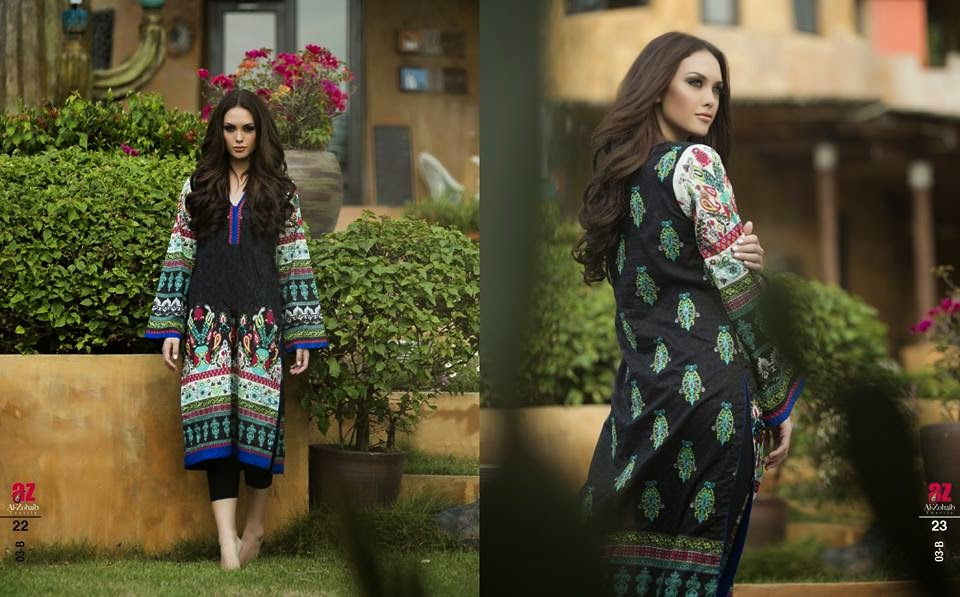 Zanisha Embroidered Kurti Collection 2015
