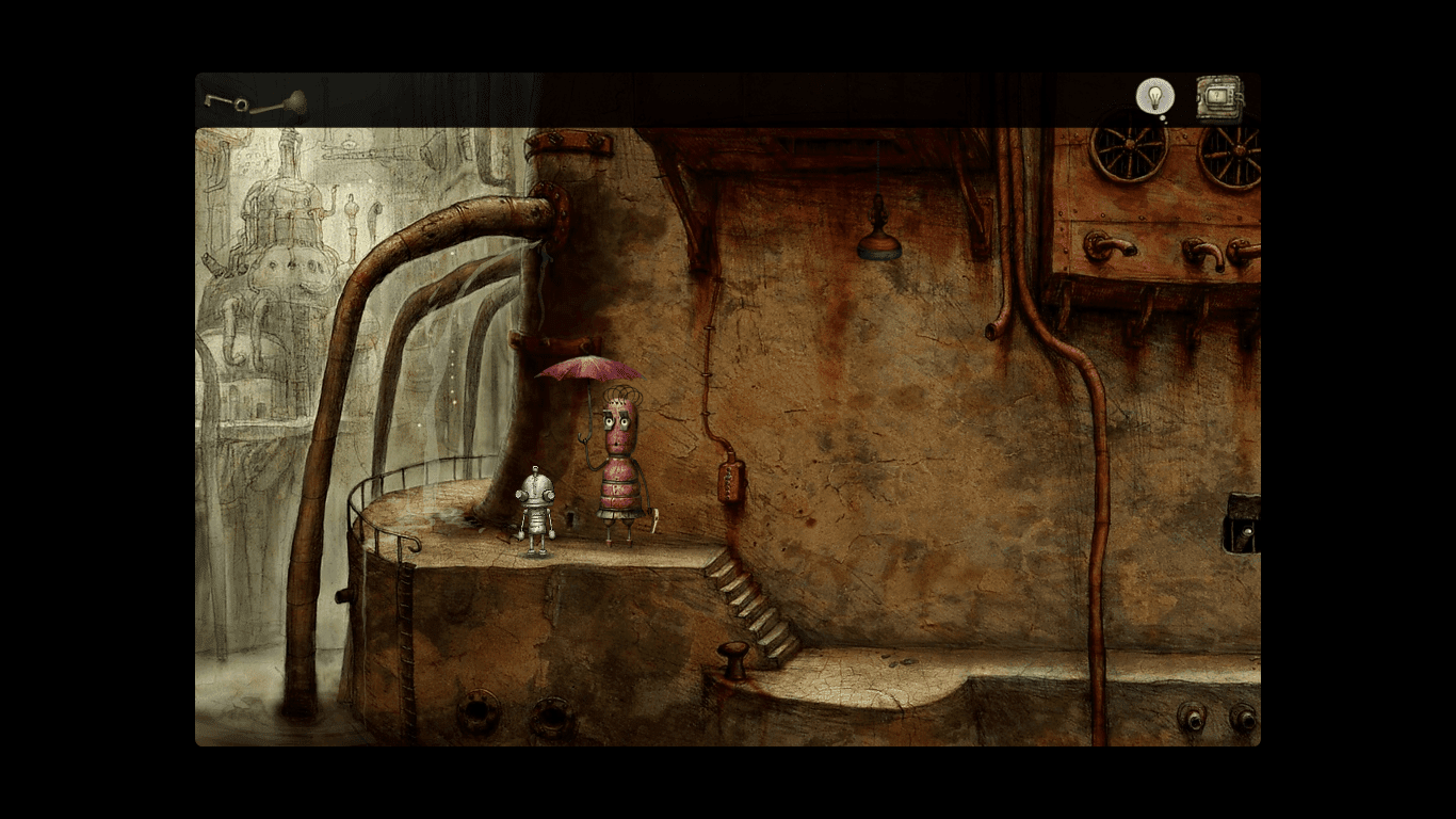Machinarium posh lady robot