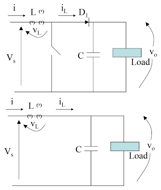 Power electronic converter: Boost Regulators – analysis of switch open