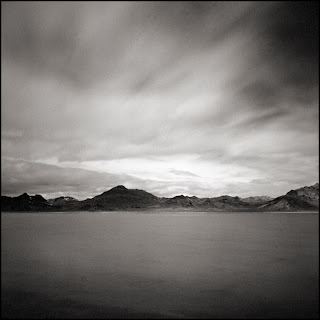 Bonneville Salt Flats In Black and White