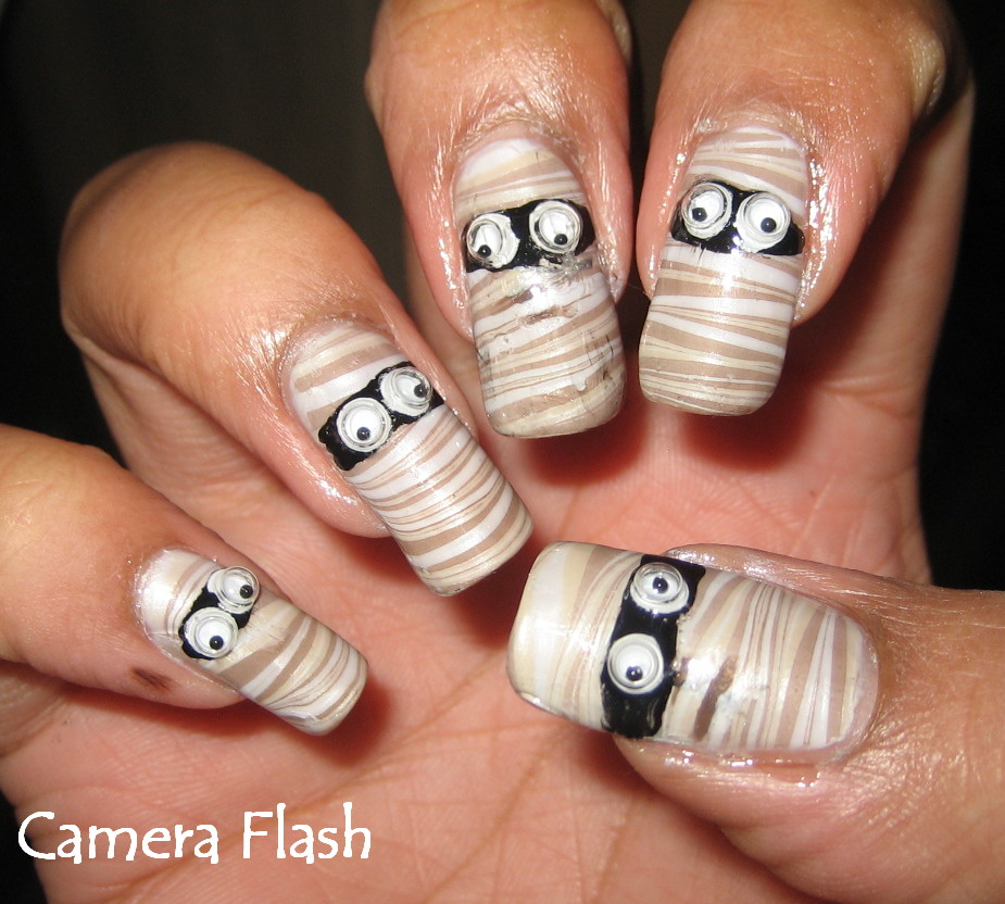 Simple Halloween Nails Designs