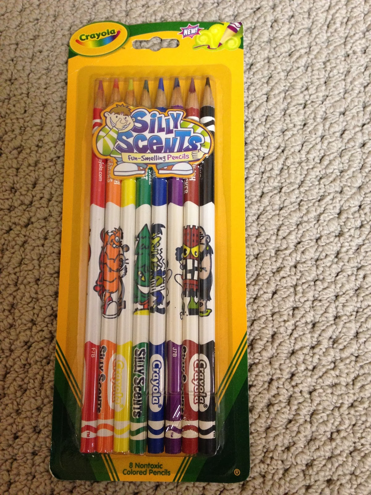 2006 silly scent colored pencils - Crayola Write Start Colored Pencils