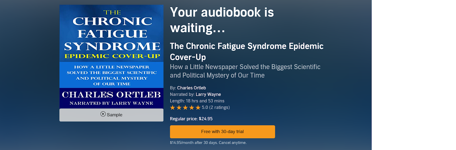 Audible CFS book