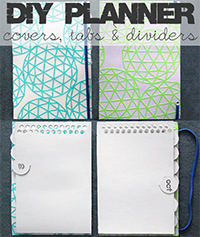 Organize DIY Planner Covers Tabs & Dividers Made From Various Food Boxes | www.blackandwhiteobsession.com