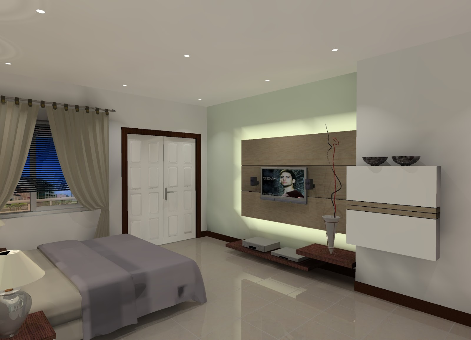 zuliyan interior kamar tidur utama