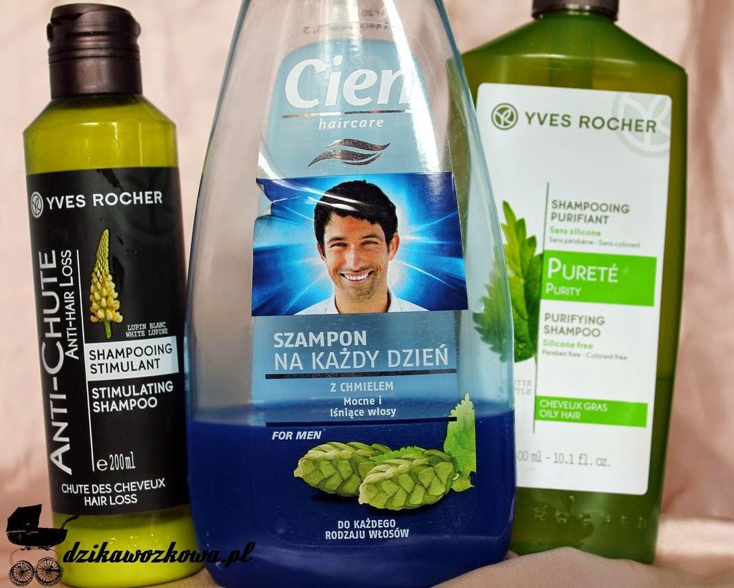 yves rocher szampon do włosów wypadających oczyszczajacy z pokrzywą chmielowy dla mężczyzn