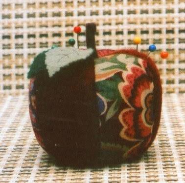 Moldes maçã e pimenta de tecido