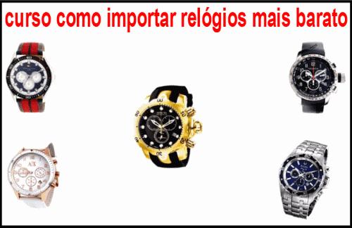 curso como importar relógios mais barato