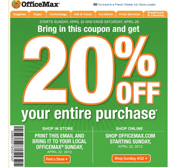 OfficeMax In-Store Printable Coupons 2014