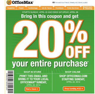 OfficeMax Coupons Printable 2013