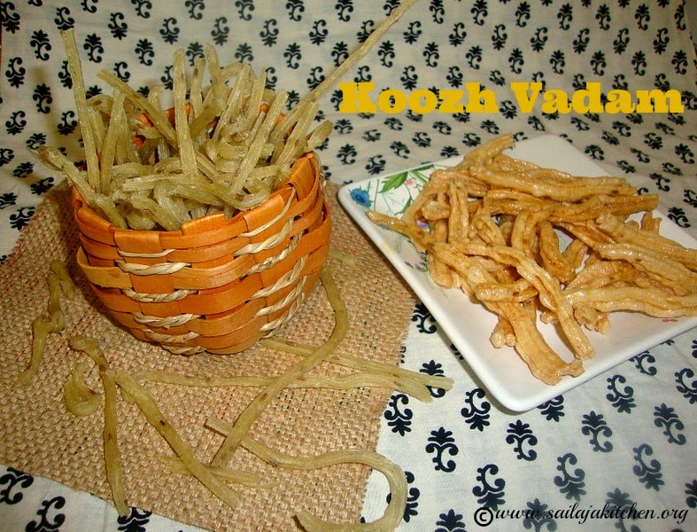 images for Koozh Vadam Recipe / Koozh Vathal / Arisi Vathal Recipe / Rice Vathal