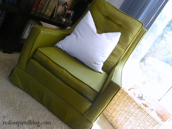 Green Chair White Pillow