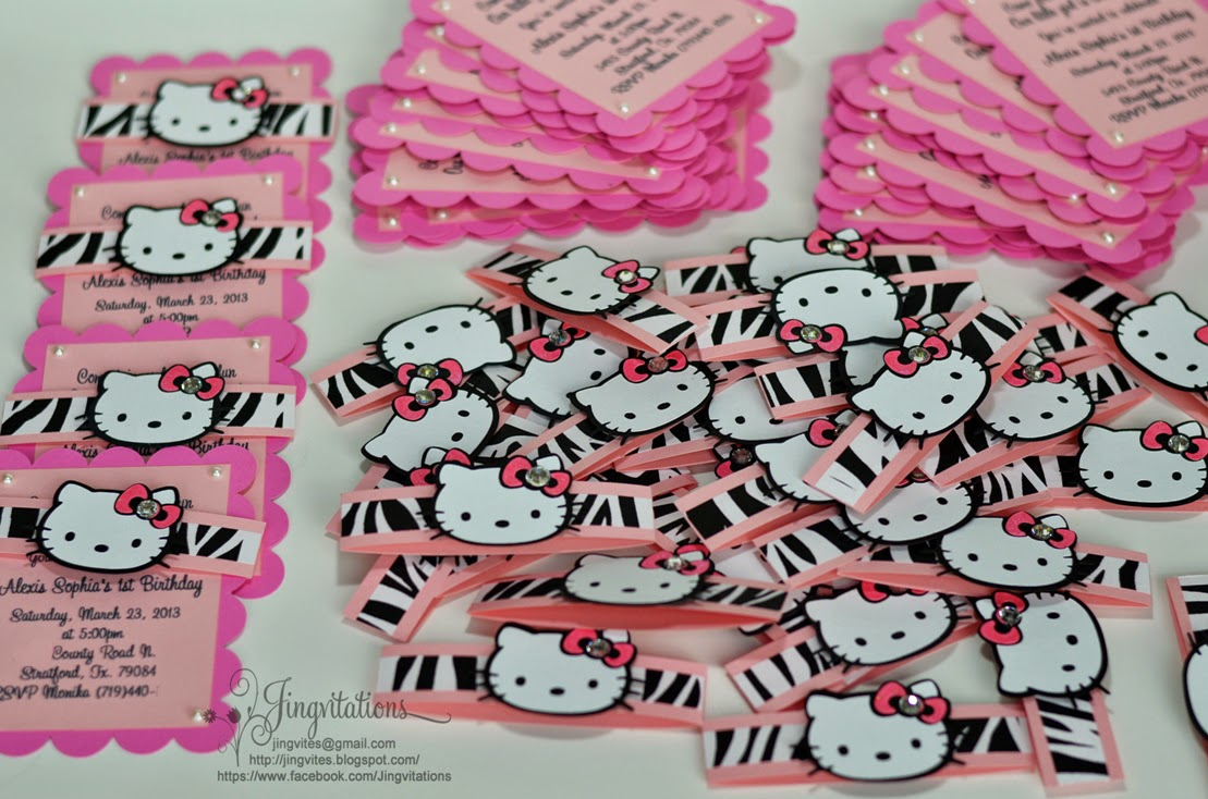 jingvitations hello kitty animal print baby shower invitations