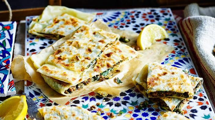 Lamb, silverbeet and feta gözleme recipe