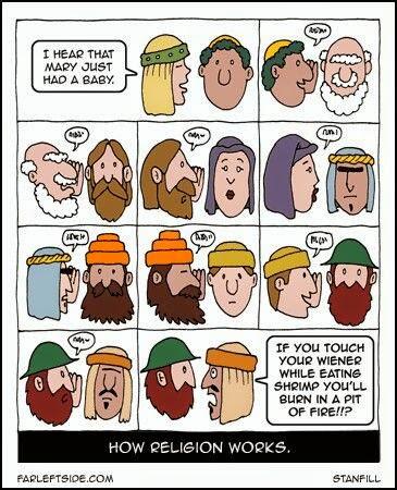 Funny How Religion Works Cartoon Strip