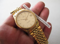 SOLD OMEGA SEAMASTER SNOW FLAKE DIAL - GOLD TOP - AUTOMATIC CAL 1110