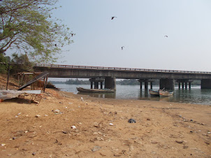Mabukala bridge viewed from West side of  Sitanadi River.