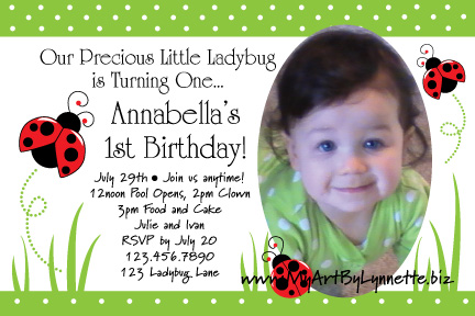Ladybugs in the grass birthday invitation birthday party ideas ladybugs in the grass birthday invitation stopboris Image collections