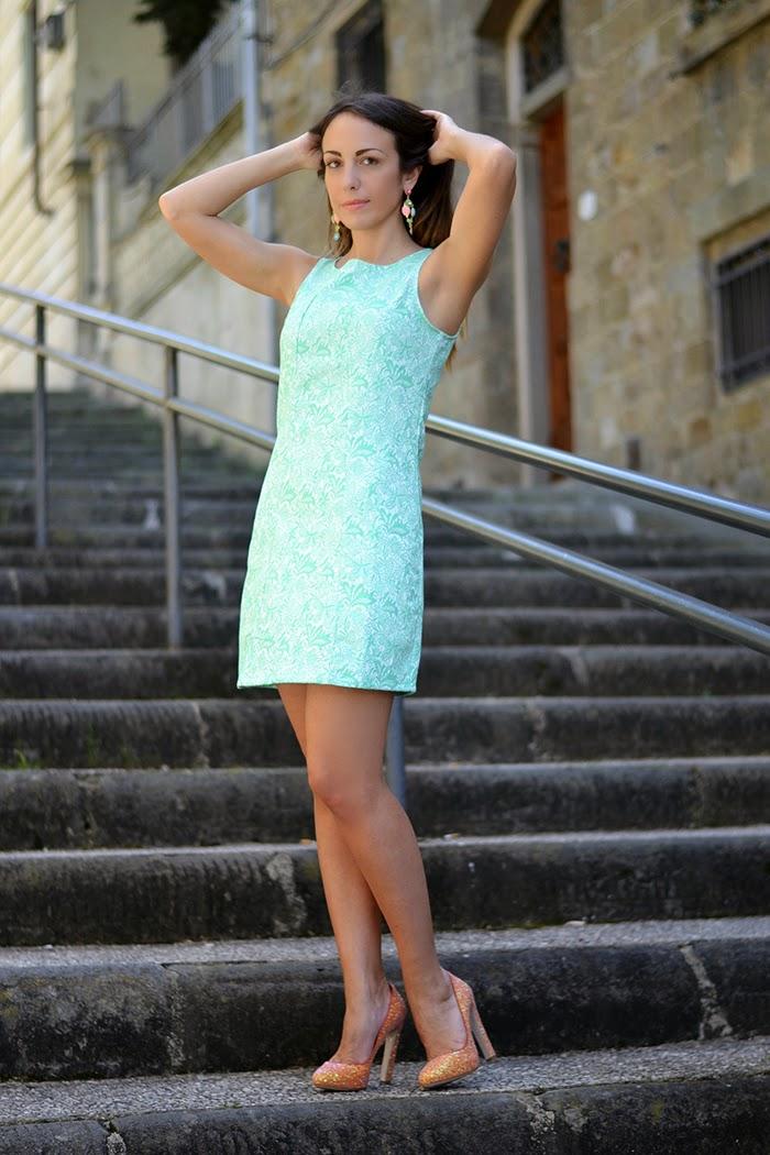 tiffany blue dress glitter pumps