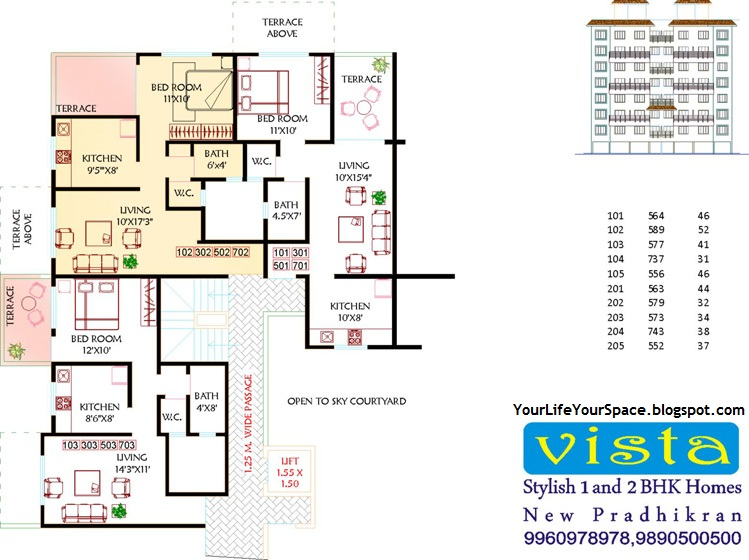 Your life your space arun vista spine road new for 4 bhk plan layout