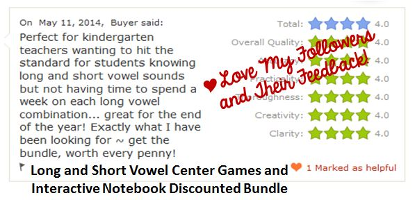 Long and Short Vowel Center Games and Interactive Notebook Discounted Bundle