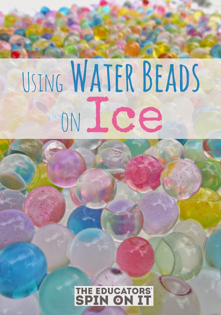 Winter Fun with Water beads and ice