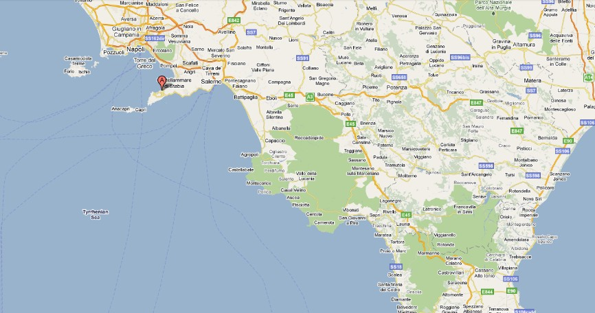 Lisa in Italy: Map of Almafi Coast, Italy