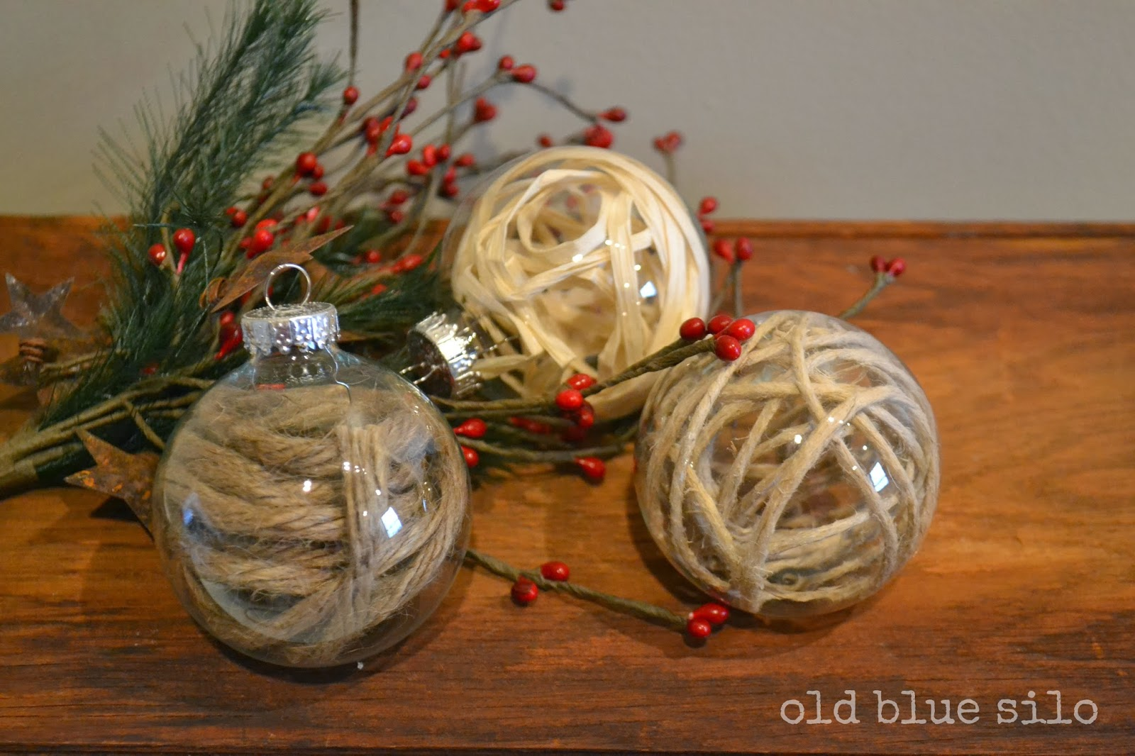 Rustic Christmas Ornaments Old Blue Silo Rustic Christmas Ornaments
