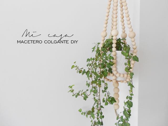 DIY: macetero colgante con bolas de madera