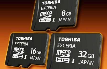 Toshiba SDHC Exceria Memory Card Announced