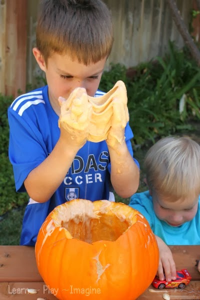 How to make pumpkin slime, using a real pumpkin