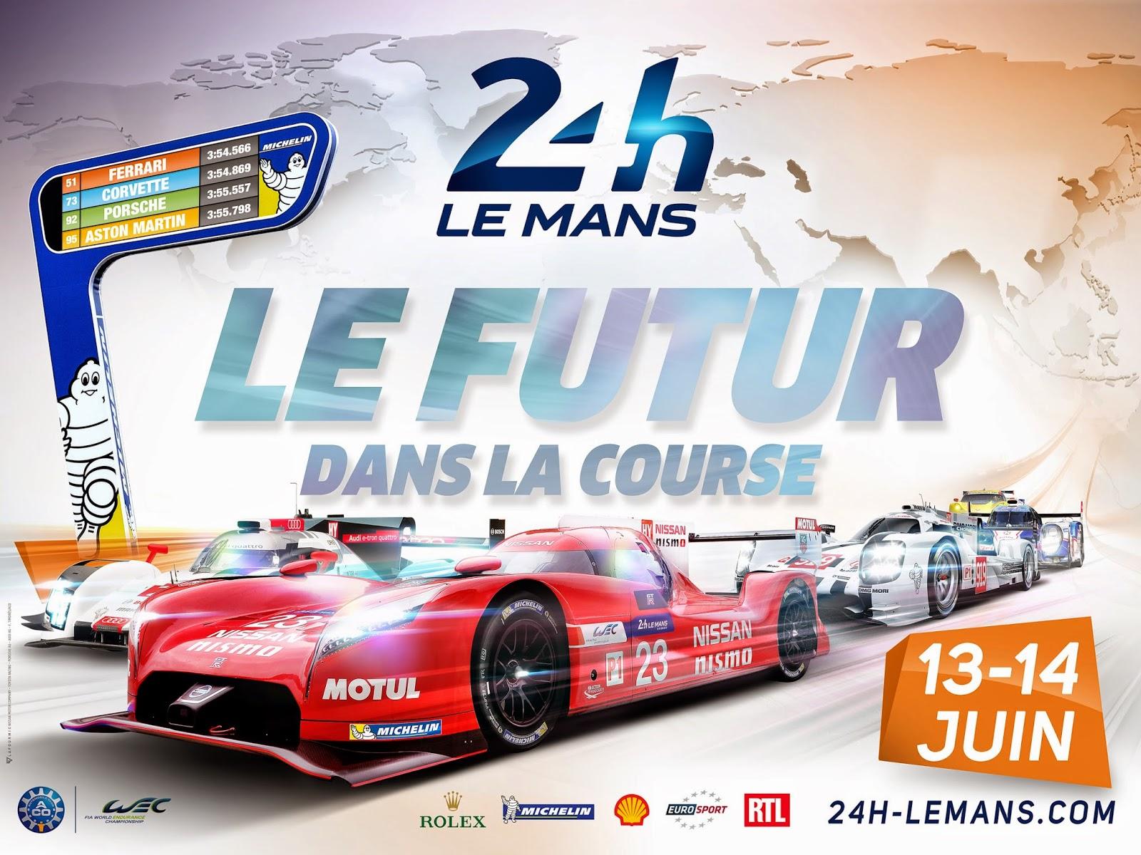 Affiche officielle des 24 Heures du Mans 2015