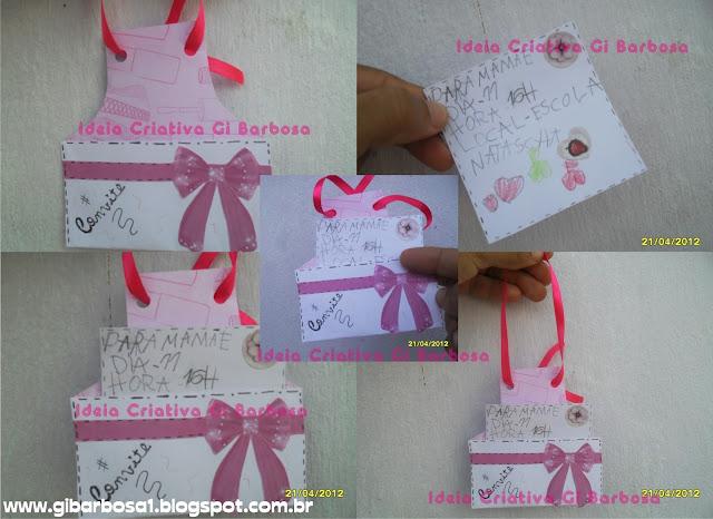 Convite Envelope Dia das Mães