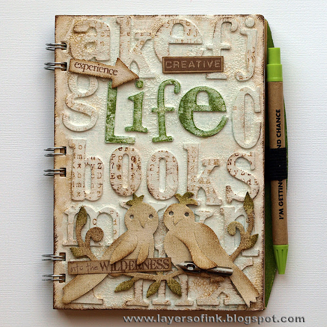 Altered Book Cover Tutorial : Sizzix die cutting inspiration and tips altered notebook