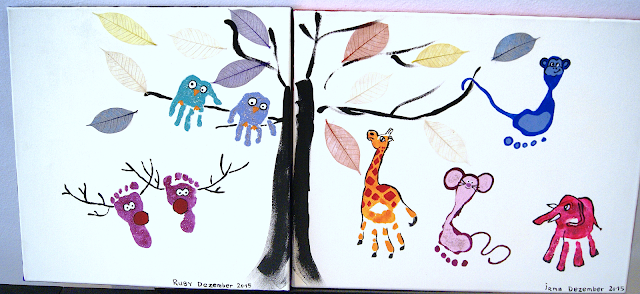 handprint footprint owl giraffe elefant moukey mouse moose