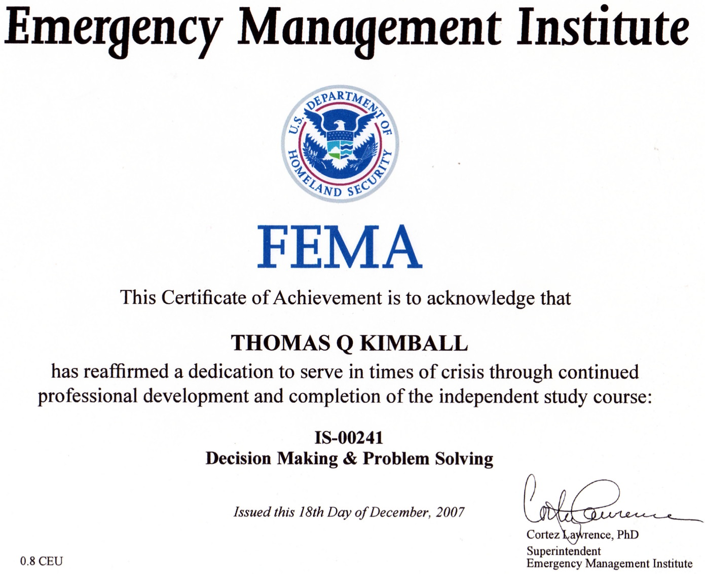 FEMA Test Answers Independent Study | FEMACourses